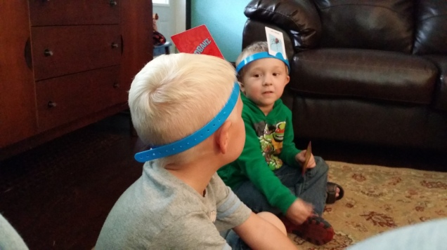 Isaac playing with his friends